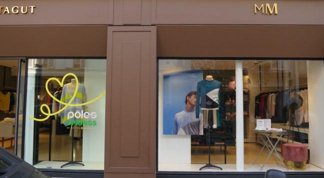 vitrine boutique Maison Montagut Rosiers Paris